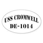 USS CROMWELL Oval Sticker (50 pk)