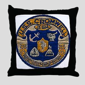 USS CROMWELL Throw Pillow