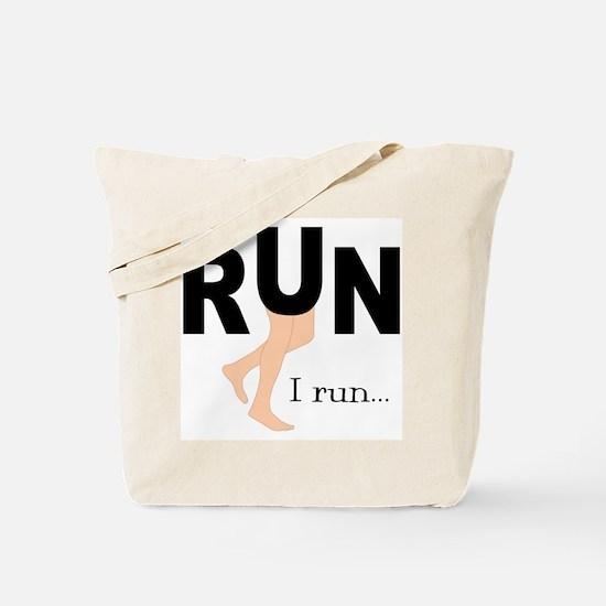 Runner Graphic, Tote Bag