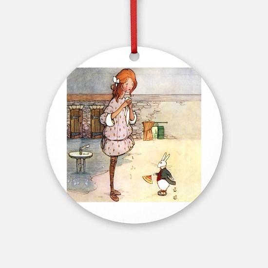 ALICE & THE WHITE RABBIT Ornament (Round)