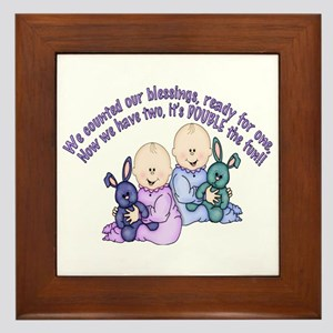Double Fun Twins Framed Tile