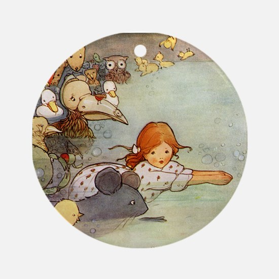 ALICE & THE CAUCUS RACE Ornament (Round)