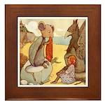 ALICE & THE MOCK TURTLE Framed Tile