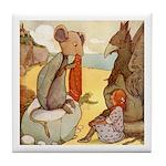ALICE & THE MOCK TURTLE Tile Coaster