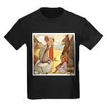 ALICE & THE MOCK TURTLE Kids Dark T-Shirt