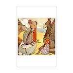ALICE & THE MOCK TURTLE Mini Poster Print