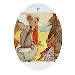ALICE & THE MOCK TURTLE Oval Ornament