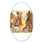 ALICE & THE MOCK TURTLE Oval Sticker (10 pk)