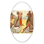 ALICE & THE MOCK TURTLE Oval Sticker (50 pk)