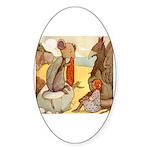 ALICE & THE MOCK TURTLE Oval Sticker