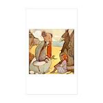 ALICE & THE MOCK TURTLE Rectangle Sticker 10 pk)