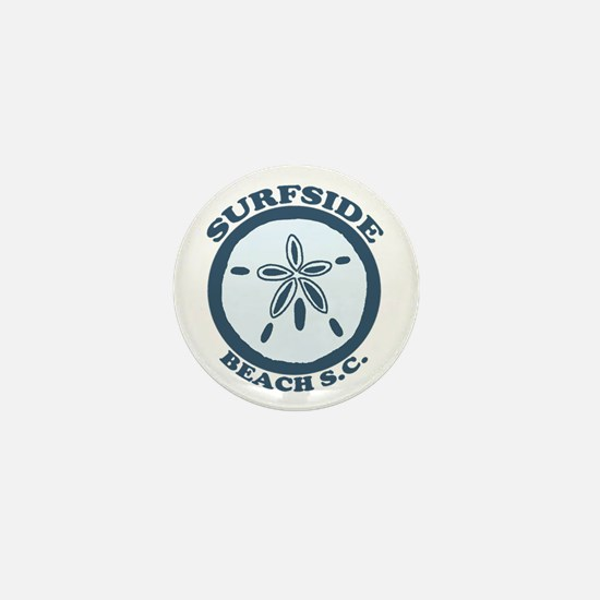 Surfside Beach SC - Sand Dollar Design Mini Button