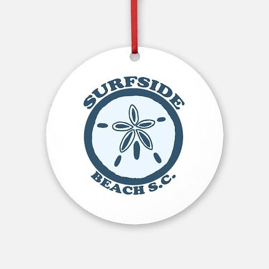Surfside Beach SC - Sand Dollar Design Ornament (R