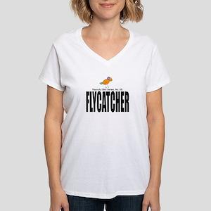 """Flycatcher"" Women's V-Neck T-Shirt"