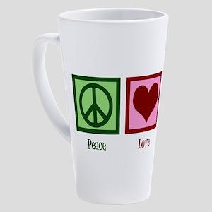 Peace Love Hanukkah 17 oz Latte Mug