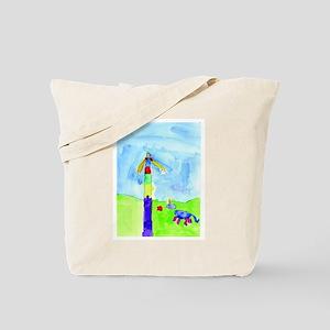 Roses and Rainbows Tote Bag
