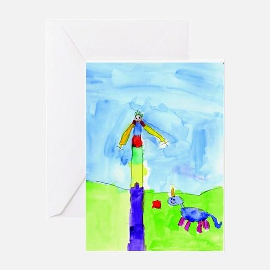 Roses and Rainbows Greeting Card