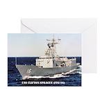 USS CLIFTON SPRAGUE Greeting Cards (Pk of 10)