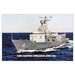 USS CLIFTON SPRAGUE Large Poster