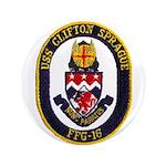 "USS CLIFTON SPRAGUE 3.5"" Button"