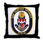 USS CLIFTON SPRAGUE Throw Pillow