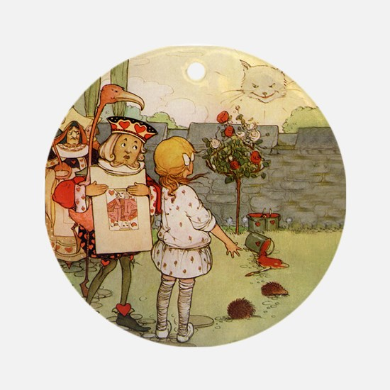 ALICE & THE CHESHIRE CAT Ornament (Round)
