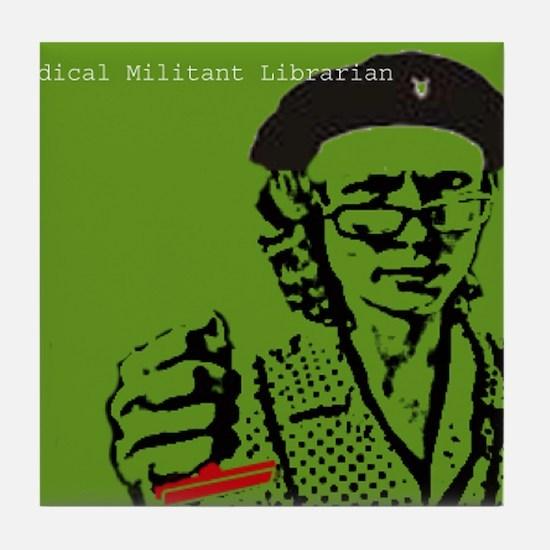 Guerilla Librarian Tile Coaster