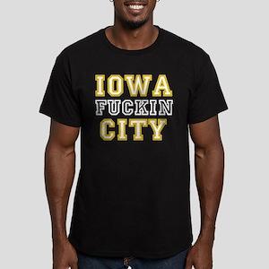 Iowa Effin' City Men's Fitted T-Shirt (dark)