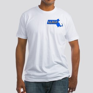 U.S. OUT OF MASSACHUSETTS Fitted T-Shirt