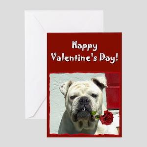 Happy Valentine's Day Bulldog Greeting Card