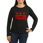 More U Street Women's Long Sleeve Dark T-Shirt