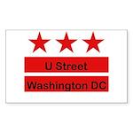 More U Street Sticker (Rectangle 50 pk)