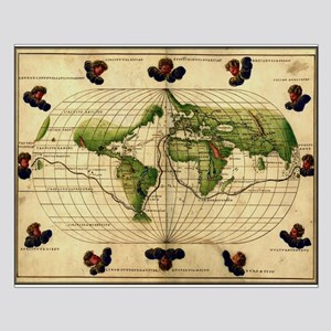"""1544 World Map"" Small Poster"