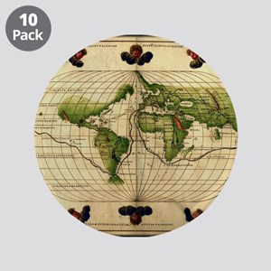"""1544 World Map"" 3.5"" Button (10 pack)"