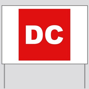 DC (Red and White) Yard Sign