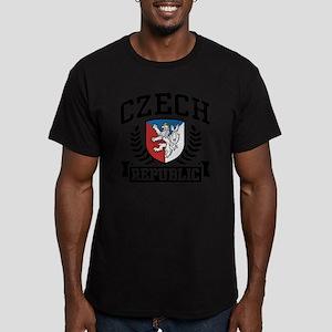 Czech Republic Men's Fitted T-Shirt (dark)