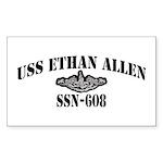 USS ETHAN ALLEN Sticker (Rectangle 50 pk)