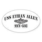 USS ETHAN ALLEN Sticker (Oval 10 pk)