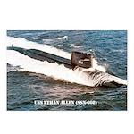 USS ETHAN ALLEN Postcards (Package of 8)