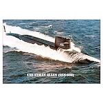 USS ETHAN ALLEN Large Poster