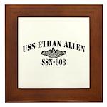USS ETHAN ALLEN Framed Tile