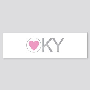 Pink Heart Kentucky Bumper Sticker
