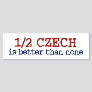 Half Czech Bumper Sticker