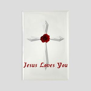 Jesus Loves You - Rectangle Magnet