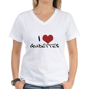 I Heart Guidettes Women's V-Neck T-Shirt