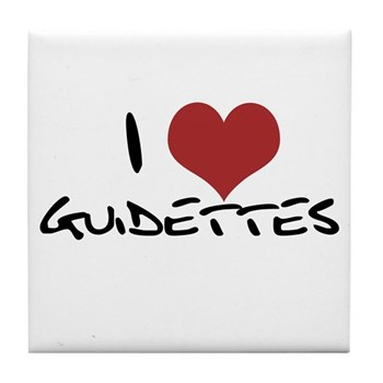 I Heart Guidettes Tile Coaster
