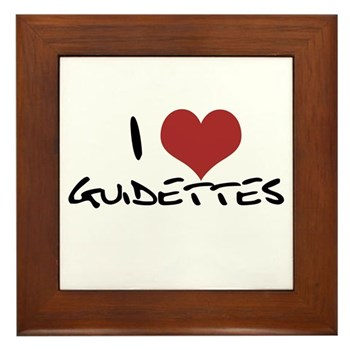 I Heart Guidettes Framed Tile