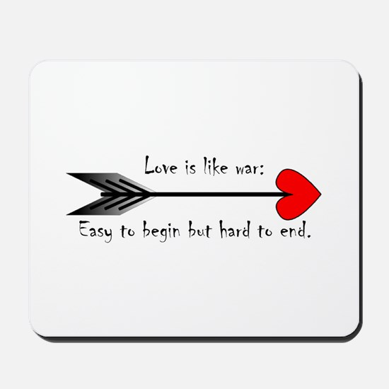 Valentine Arrow Mousepad