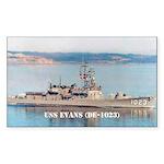 USS EVANS Sticker (Rectangle 50 pk)