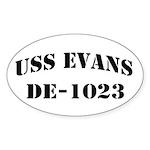 USS EVANS Sticker (Oval)